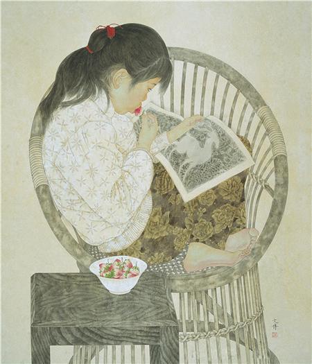 《酸草莓》90×90cm 纸本设色 1994年