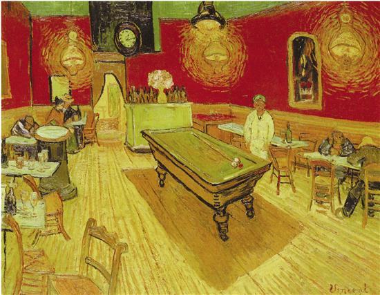 文森特·梵高 夜间咖啡馆 1888年 布面油画 耶鲁大学艺术博物馆藏