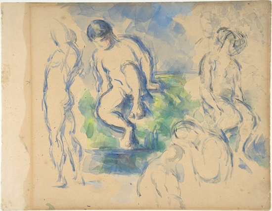 塞尚,《浴者》,1890年