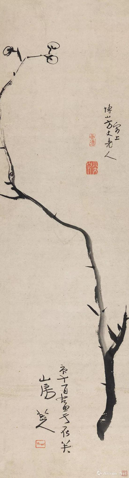 No.14八大山人庚午(1690年)作《墨梅图》立轴