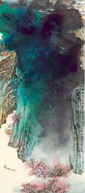 张大千的《桃源图》(1982)以3490万美元的价格在香港苏富比卖出。图片:致谢苏富比