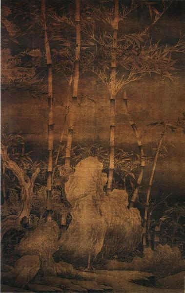 五代·南唐 徐熙《雪竹图》绢本 纵151.1cm横99.2cm原私人收藏 现藏上海博物馆