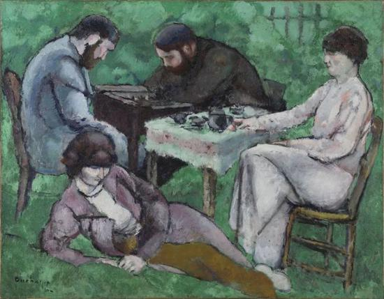 The Chess Game, 1910