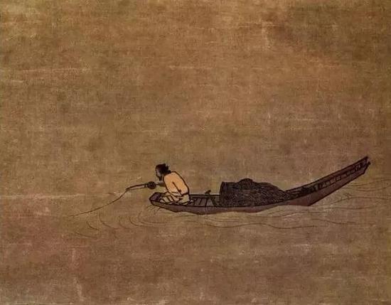 《寒江独钓图》 宋 马远 绢本水墨 日本东京国立博物馆藏