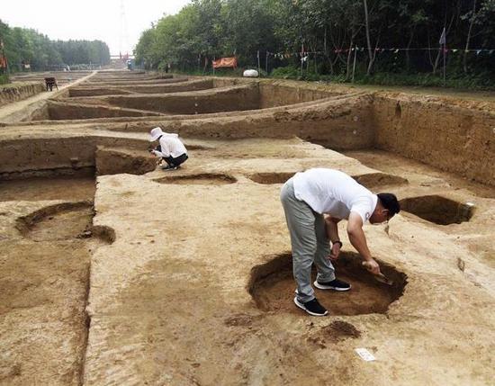 济南城区发掘出战国古城遗址