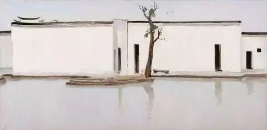 北京保利——吴冠中:《双燕》(油画)