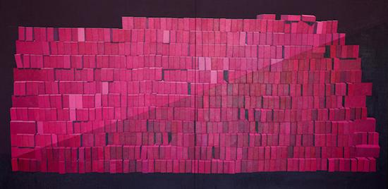 韩玉《城堡》 150×300cm 油画 2017 年