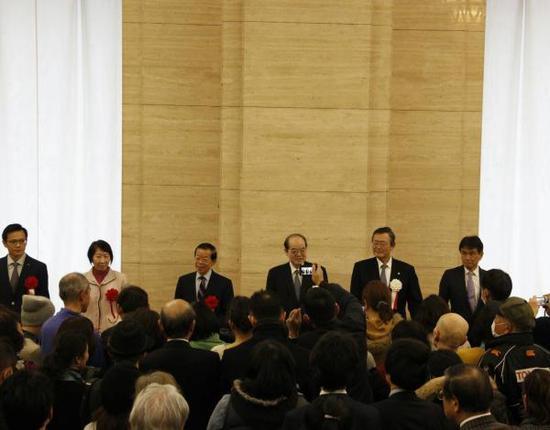 日本东京国立博物馆颜真卿大展开幕式现场 台北故宫博物院 供图