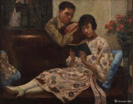 《蜜月》 布面油彩 93x118cm 1925年 徐悲鸿纪念馆藏
