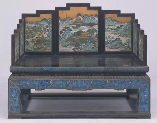 紫檀嵌珐琅宝座 清乾隆故宫博物院藏