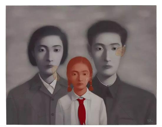 张晓刚《血缘:大家庭》 一九九九年作 油画画布 149.6 x 189.2 公分 8,500,000 - 12,500,000港元