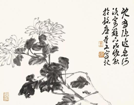李文亮 花鸟 34cm×45cm 纸本设色 2018年