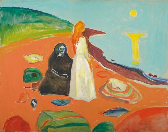 海边的两个女人 1933-35年 油彩、油画