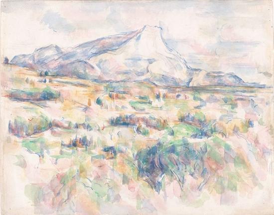 塞尚,《圣维克多山》1902-1906年