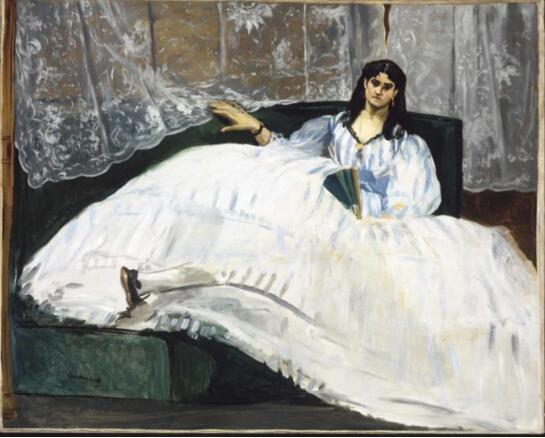douard Manet, Baudelaire's Mistress (Portrait of Jeanne Duval),1862