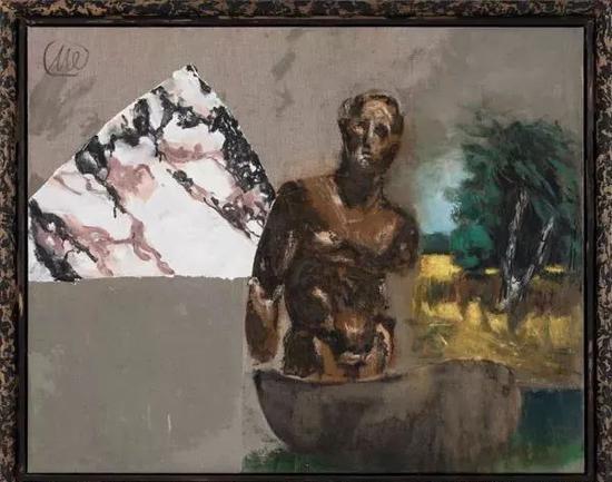 吕佩尔兹《尤利西斯》(Ulysses),130 x 162 cm,综合材料,布面油画,2012