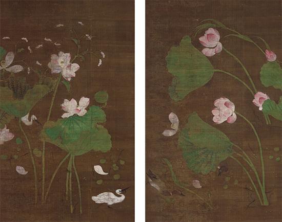 重要文化遗产 於子明画 莲池水禽图 中国南宋时代(13世纪) 京都知恩院藏