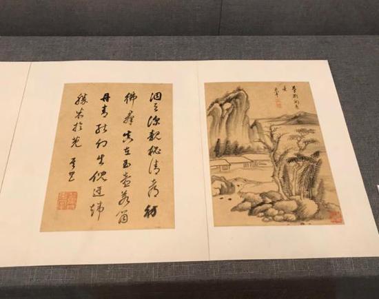 董其昌《书画》册,上海博物馆藏