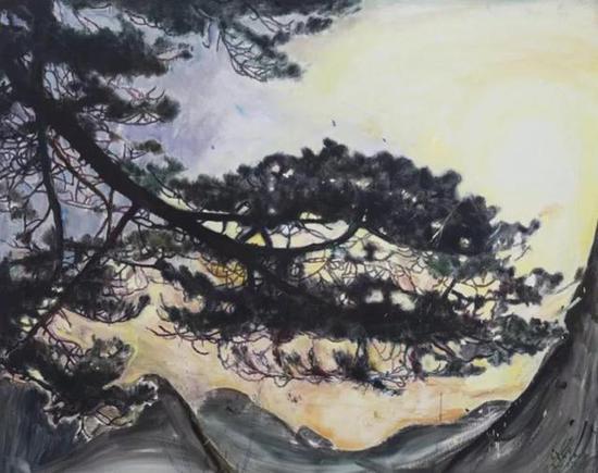 许宏翔,好风景No.2,160X200cm,画布油彩,2017
