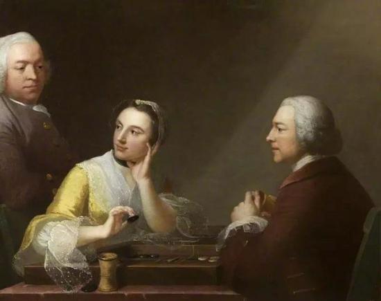 The Backgammon Trio, 1754 (?)