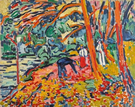 毛利斯?德?弗拉芒克《枯木景致》 1906年作 成交价:1666.95万美元
