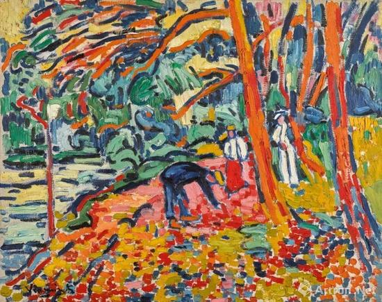 毛利斯?德?弗拉芒克(Maurice de Vlaminck)《枯木景致》 1906年作