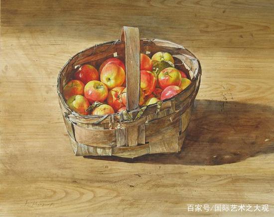 一筐苹果,满满的爱
