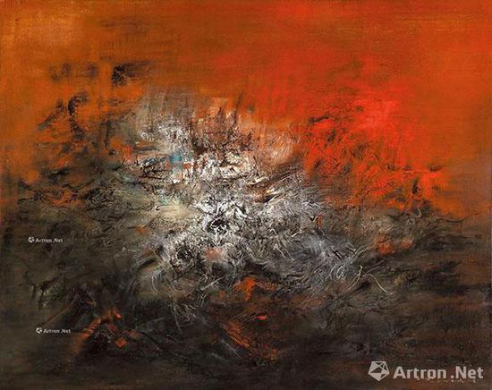 赵无极《14.12.59》油彩 画布 130×162cm