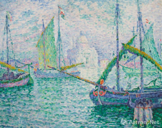 保罗·西涅克 (1863-1935)《Venise. Le Rédempteur》1908年作