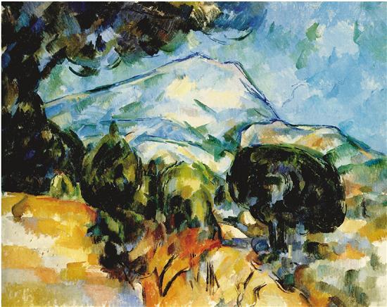 保罗·塞尚 圣维克多山 1904年 油画 美国克里夫兰艺术博物馆藏