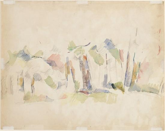 塞尚,《对树的研究》,1895年