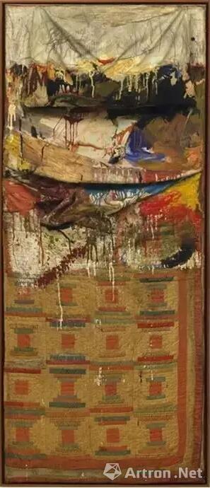 Leo捐赠给MoMA的劳森伯格经典作《床》