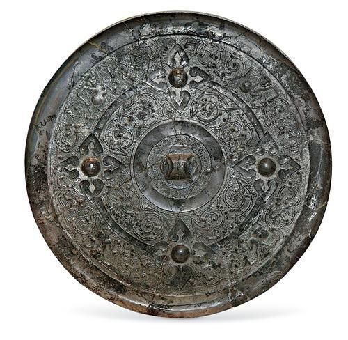 四乳兽纹铜镜。河北博物院供图