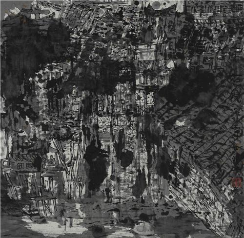 《居家有景》1999年 68cm×72cm