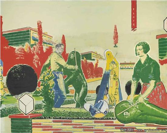 尼奥﹒劳赫《广场》(Platz)2000