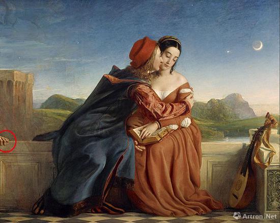 苏格兰画家威廉·戴斯《弗朗西斯卡与保罗》