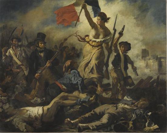 德拉克洛瓦,自由引导人民,1831