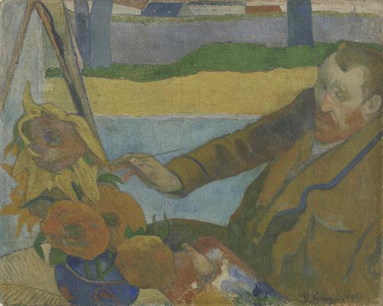 高更,《正在画向日葵的梵高》,1888年于阿尔勒,阿姆斯特丹梵高美术馆藏