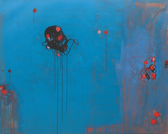 《黑色的生命》,布面丙烯,160 x 200 cm,2008