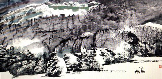 (二)戴成有教授大写意瑞雪山水的探索实践