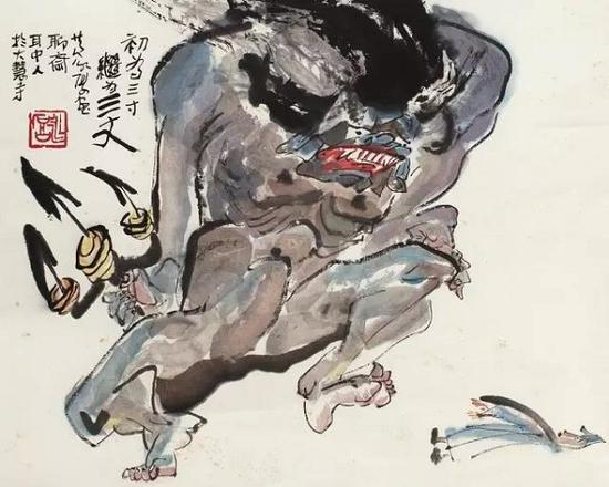 黄永厚画作《聊斋人物》