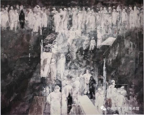 夏理斌《天·使》综合材料 160x200cm 2008年