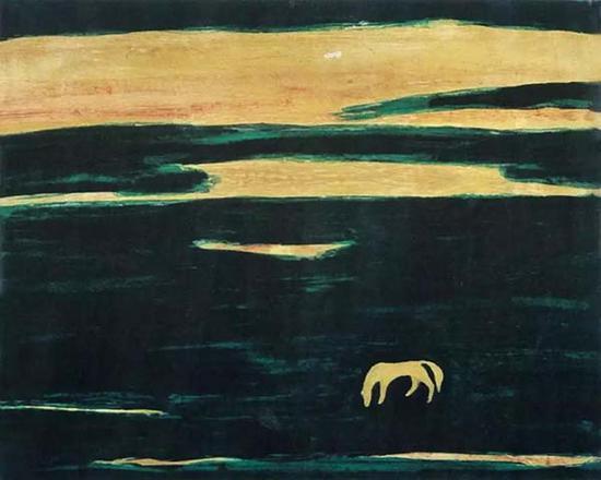 常玉 《原野之马》1950年代