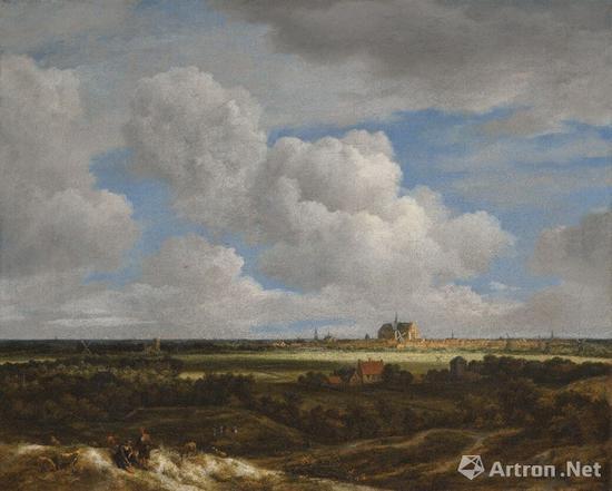 雷斯达尔《哈伦风景画:哈伦全景与从西北方望白茫茫的原野》265万英镑