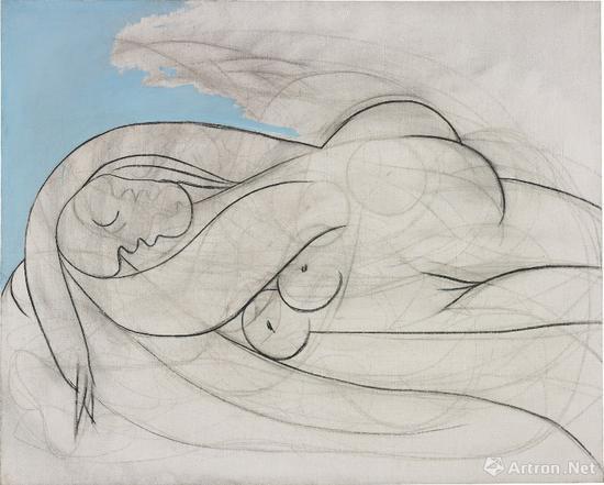 巴布洛·毕加索作品布面油画、木炭 130.2 x 161.9 cm 1932年作