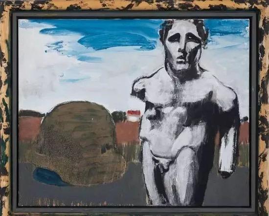 吕佩尔兹《尤利西斯》(Ulysses),81 x 100 cm,综合材料,布面油画,2011