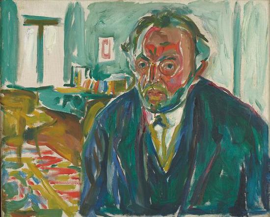 西班牙流感后的自画像 1919年 油彩、油画