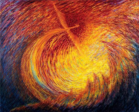《涅槃》 王冰 130x160cm 2014年 布面油画