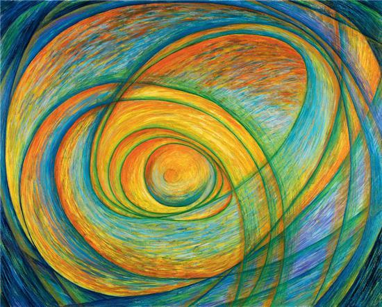 《W-001》 王冰 120x150cm 2016年 布面油画