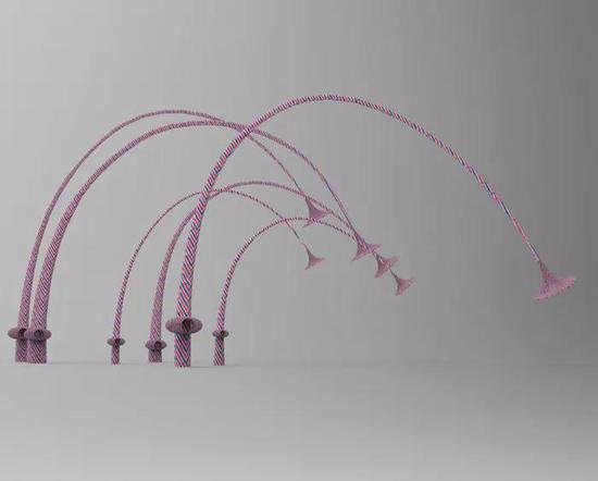 刘佳《对话》声音装置塑编袋、编制等综合材料与手段